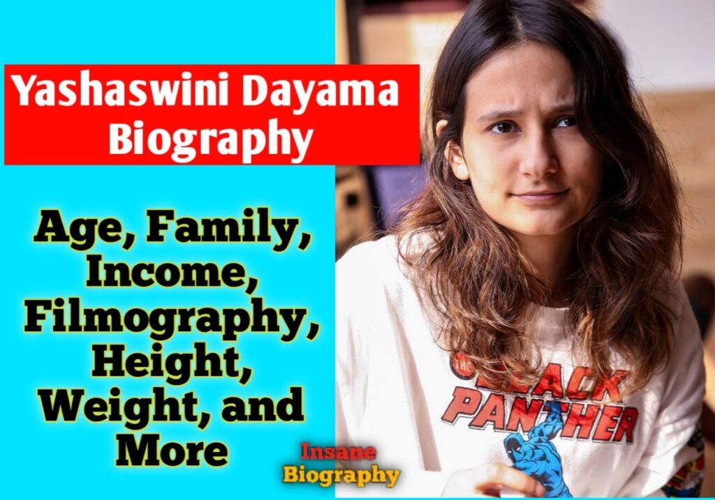 Yashaswini Dayama Biography