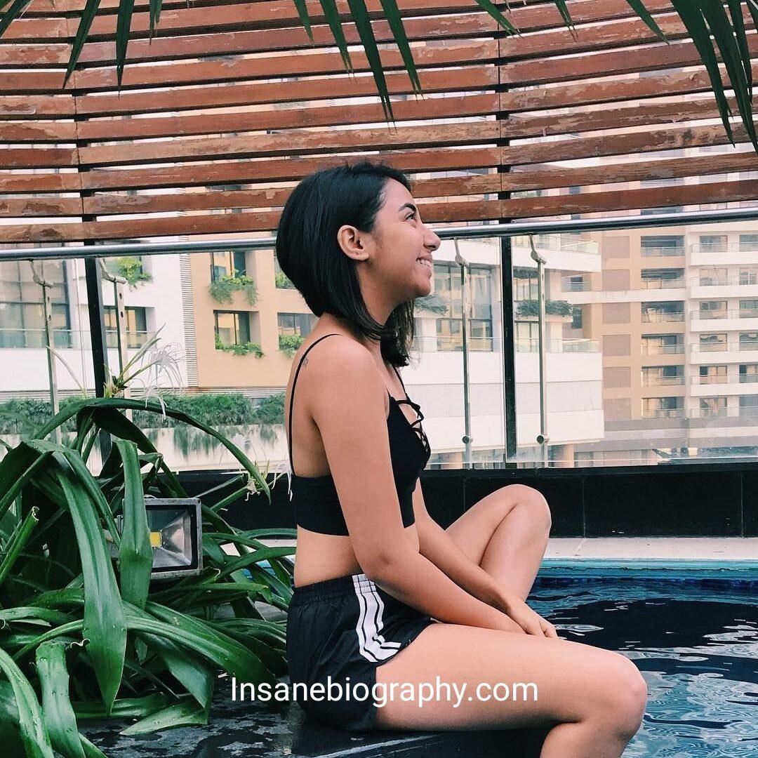 Prajakta koli in Swimming Dress