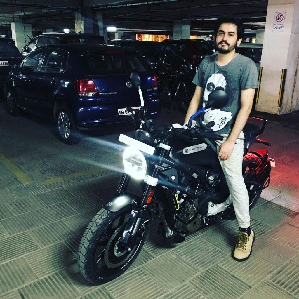 Shashwat Maheshwari  on Bike
