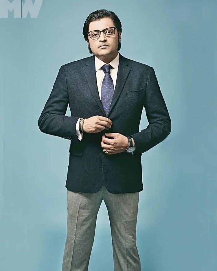 Arnab Goswami body measurement