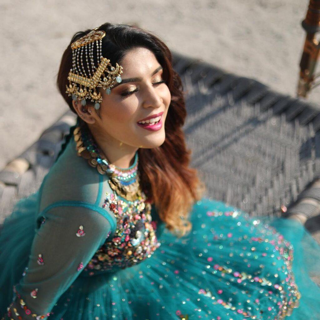 Shreya Jain in Blue Dress