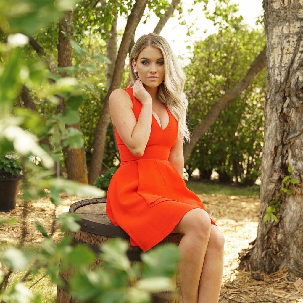 Samantha Ravndahl in Red Dress