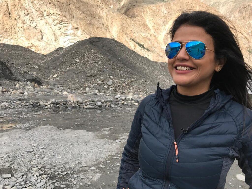 Sweta Singh Smiling
