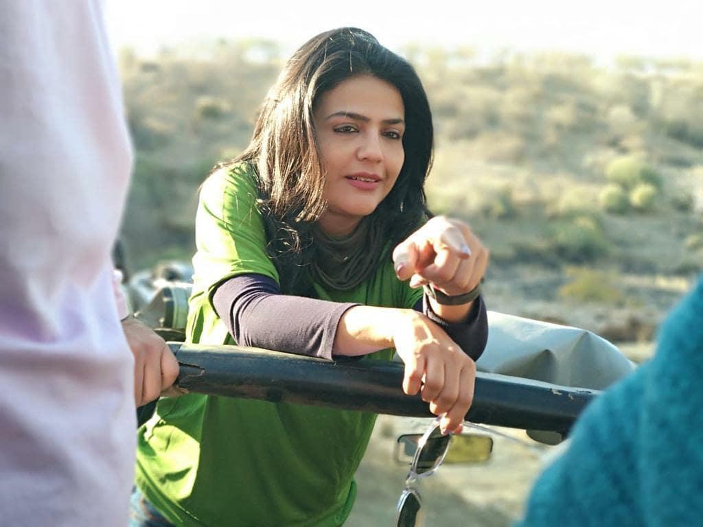 Sweta Singh exploring animals