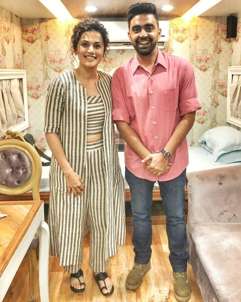 Rahul Dua with Tapsee pannu