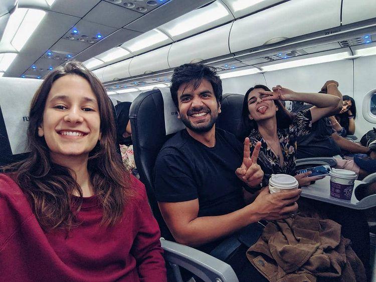 Yashaswini Dayama with Ayush Mehra and Alisha Ahmed